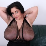 Huge breasted Alice 85JJ with her tits out