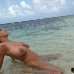 Ewa Sonnet naked nude unclothed beach big huge large boobs tits breasts knockers norks pretty beautiful pussy vagina twat cunt