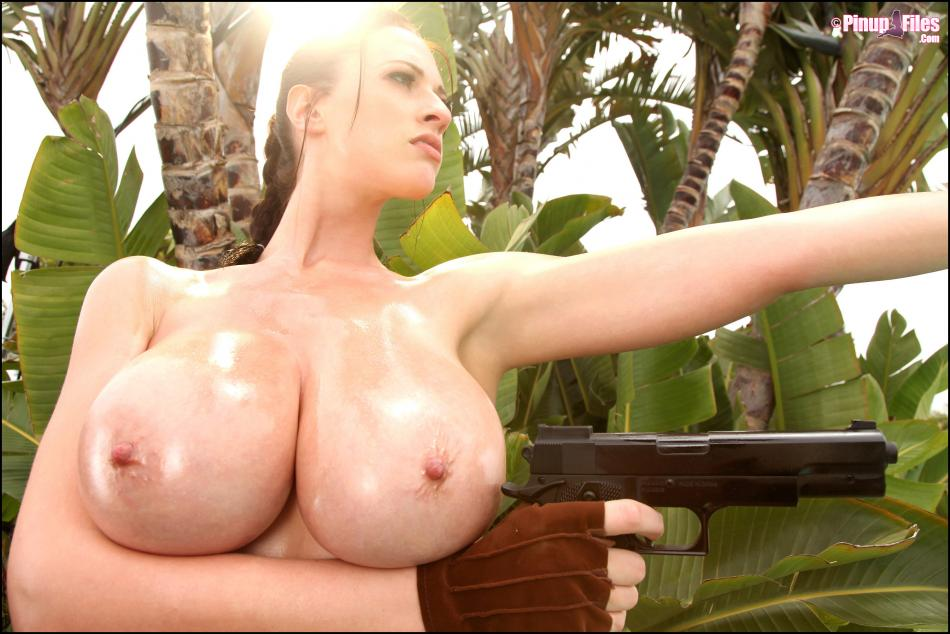 Lara Croft Topless on PinUpFiles