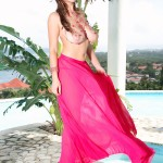 34G Valory Irene naked in the Caribbean sun