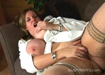 Amber hall 36G wanking her pussy to orgasm in female masturbation videos from BustyBrits.com