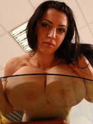 Anya Sakova 32G tits-on-glass photos from TopHeavyAmateurs.com