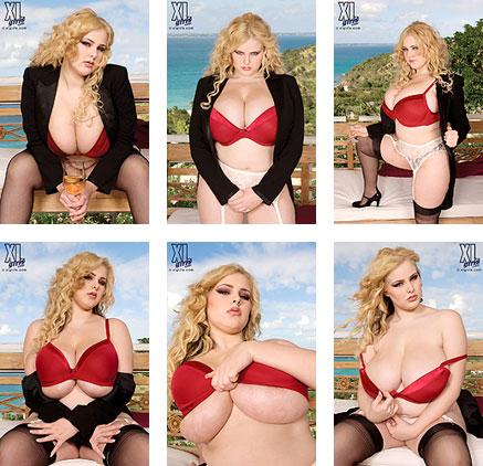Ashley Sage Ellison bra photos at XLgirls.com