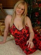 Ashley 32JJ big Christmas tits at DreamOfAshley.com
