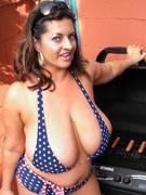 Big boobs barbecue with Maria Moore at TopHeavyAmateurs.com