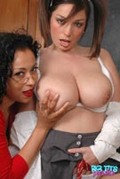 Michelle Monoghan plays the naughty schoolgirl for lesbian teacher Danica at BigTitsParadise.com