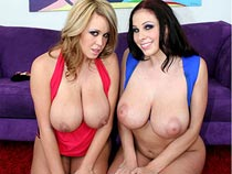 Brandy Talore & Gianna Micheals FFM threesome videos from BabyGotBoobs.com