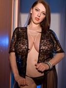 Busty Merilyn Sakova 32G gets her big tits & ass creamed at BustyMerilyn.com