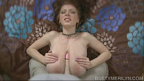 Busty Merilyn Sakova 32G gets a G-cup titfuck at BustyMerilyn.com