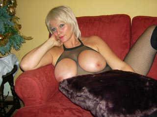 CherryLove - Busty blonde British MILF with GG-cup breasts at The Breast Files Playmate Sites