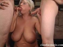 claudia marie threesome