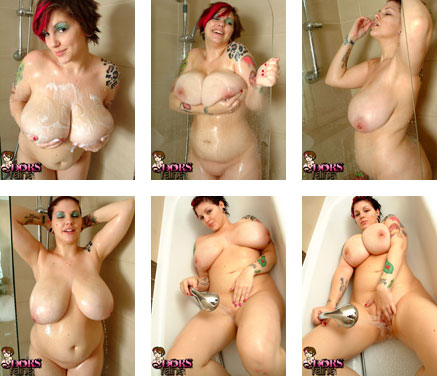 Cum off Dors Feline nude in the shower at DorsFeline.com