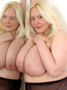 Dalila 38H big busty blond amazon woman with huge pendulous breasts from XX-Cel.com