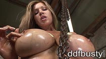 Busty Carol fucking a Phillips in screwdriver masturbation videos from DDFbusty.com