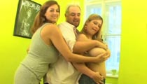 Eden Mor & Terry Nova threesome big breast smothering & tit sucking videos at XX-Cel.com