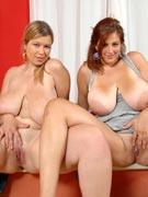 Eden Mor & Terry Nova go tit-to-tit as big bosom buddies ay XX-Cel.com