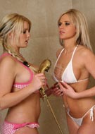 Faith 32G taking a shower with Ann Angel 34C at Ann-Angel.com