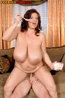 Maria Moore feeding & fucking in busty plumper fat feeder fetish photos from FeedHerFuckHer.com