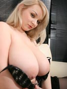 H-cup Tits in Low-Cut Tops with 36H Micky from BigTitsGlamour.com
