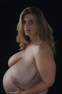 J-cup breasts on pregnant Hayley from DivineBreasts.com