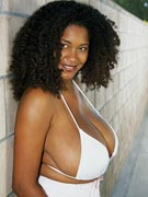 Chaka 36JJ big tits cleavage pics from JuggMaster.com