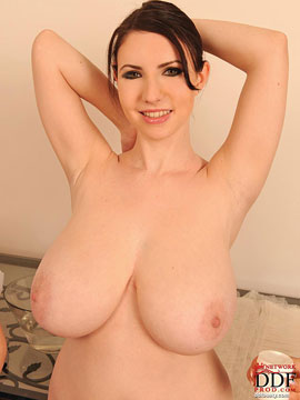 Karina Hart with clean tits at DDFbusty.com