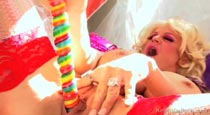 Kelly Madison busty MILF big boobs lollipop fucking pussy masturbation videos from KellyMadison.com