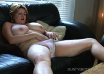 Lucy Williams wanking in female masturbation videos from BustyBrits.com