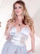 Maggie Green goddess dress photos at MaximumMaggie.com