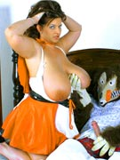 Maria Moore 36JJ big tits Busty Red Riding Hood photos from BigTitsCurvyAsses.com