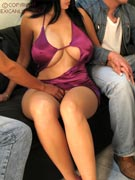 Maritza big tits casual sex busty threesome spitroast while husband sleeps at Mexican Lust - MexicanLust.com