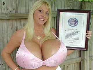 Maxi Mounds 36MM has the Biggest Fake Tits per the Guinness Book of World Records