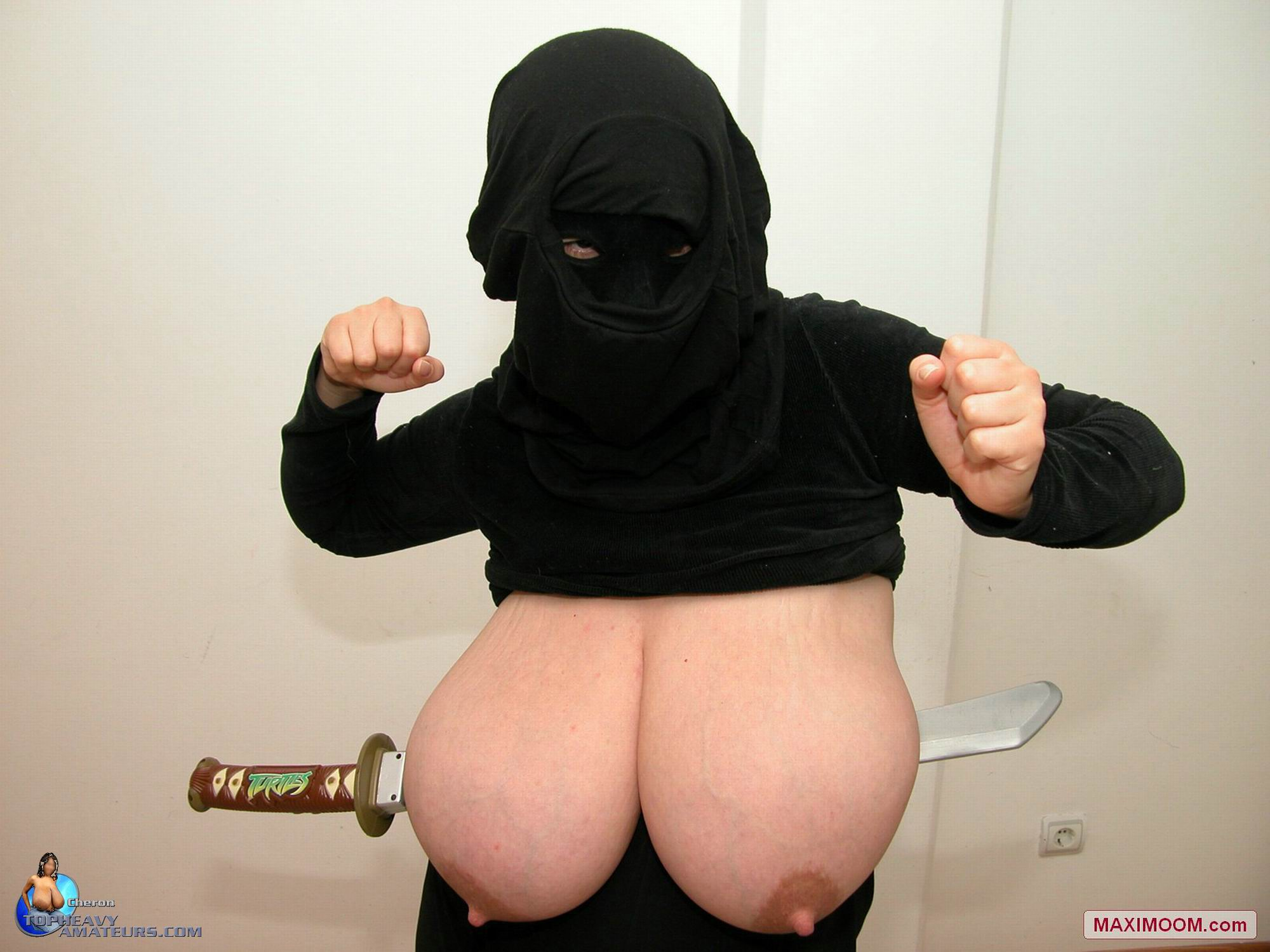 Big boob female ninja can