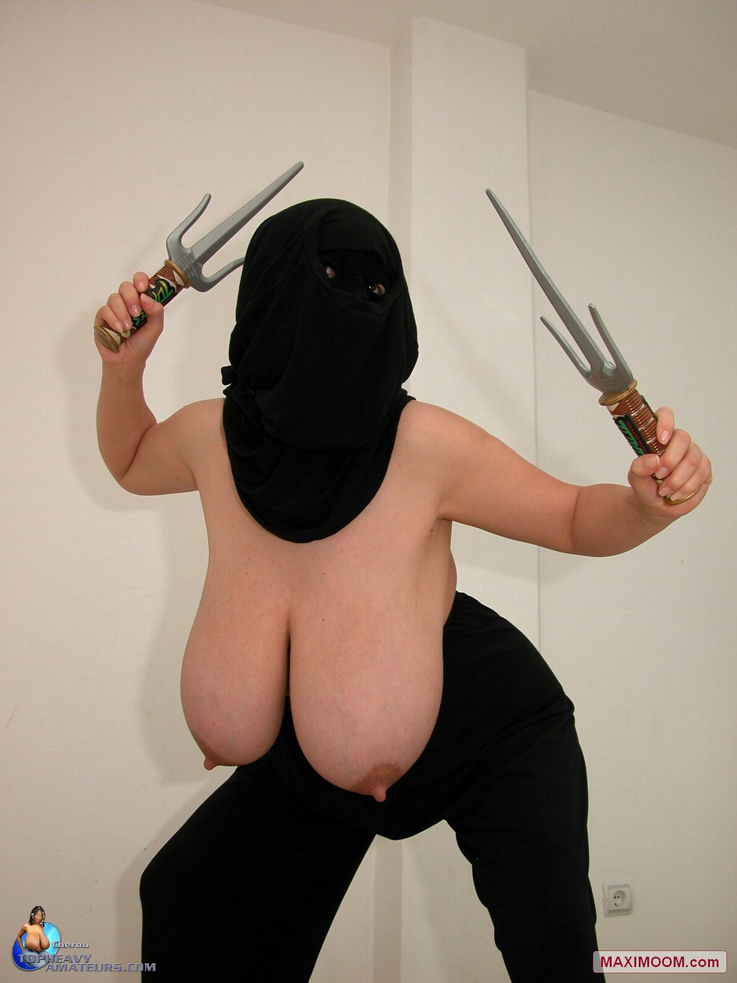 Where learn Big boob female ninja