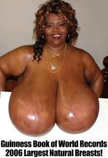 Norma Stitz 72ZZZ biggest breasts in the world at EbonyIncrediblePass.com