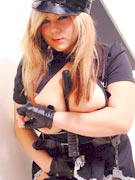 Teen Model Tara busty policewoman stripper pics from TeenModelTara.com