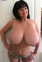 Rachel Aldana mojito robe revealing massive tits from RachelAldana.com