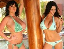 Rachel Aldana & Denise Milani Bikini Shoot at RachelAldana.com