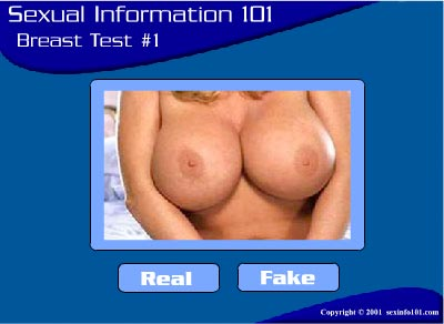 Real or fake breast test