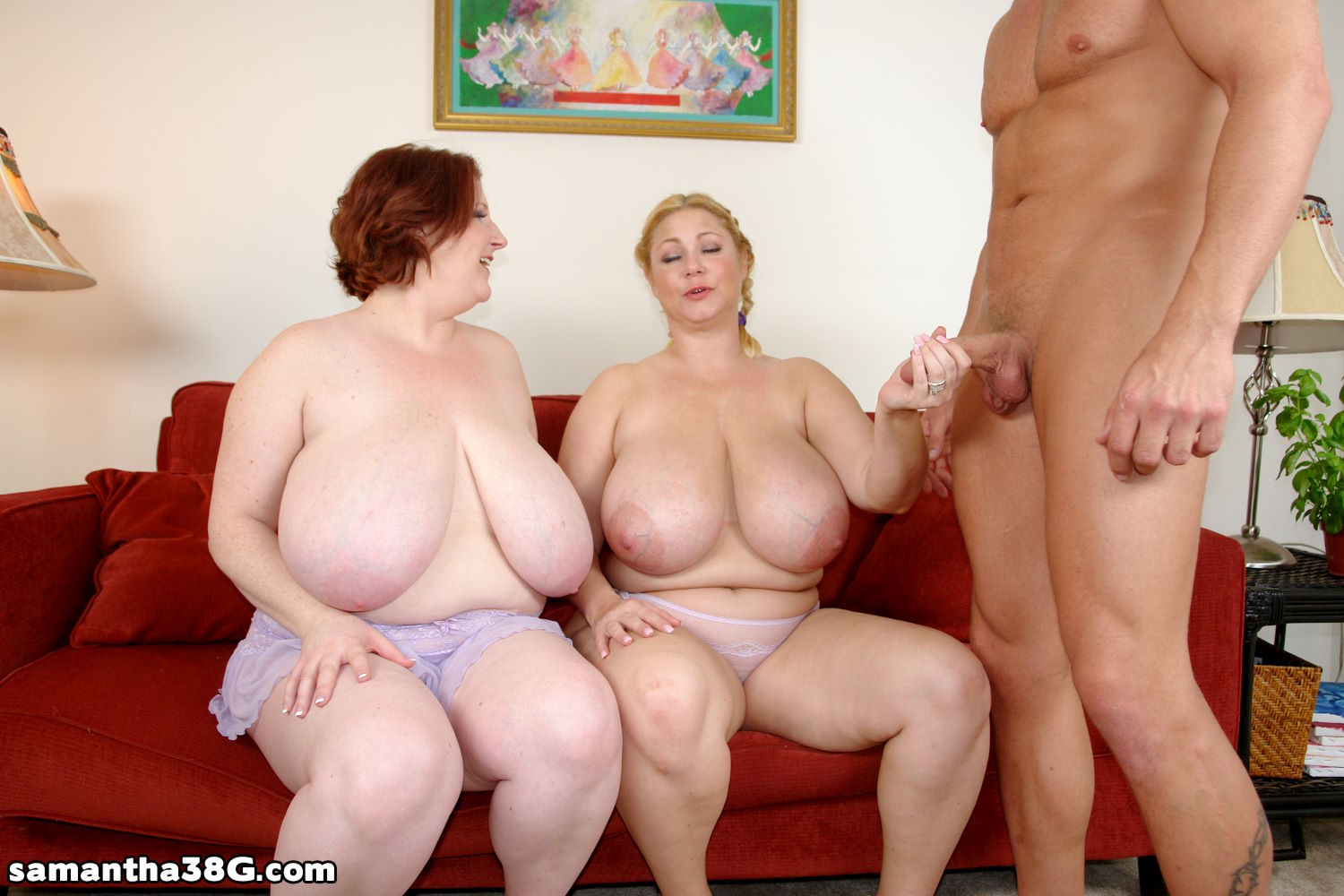 Threesome with big tits