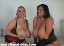 Samantha 38G goes Tit-to-Clit with 36JJ Maria Moore in girl-on-girl lesbian videos at PlumperPass.com