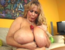 Samantha38g solo sex dildo masturbation movies and big boobs titfuck videos with G-cup breasts from busty blonde BBW Samantha 38G at PlumperPass.com