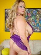 Samantha38g solo sex dildo masturbation and big boobs titfuck with G-cup breasts from busty blonde BBW Samantha 38G at PlumperPass.com