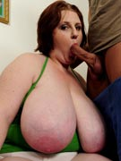Sapphire L-cup big tits blowjob photos from BigBabeBlowjobs.com