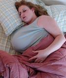 Sapphire 38J in bed at BigBoobGem.com