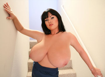Wide boobs showing cleavage cusp of breast flesh on big tits busty L-cup Rachel Aldana at RachelAldana.com