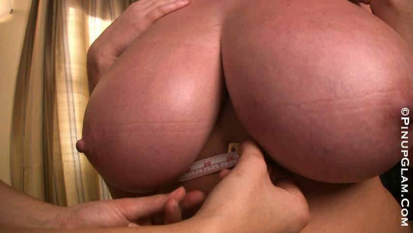 Girl measuring big boobs Rachel Aldana Bra Measuring Video My Boob Site